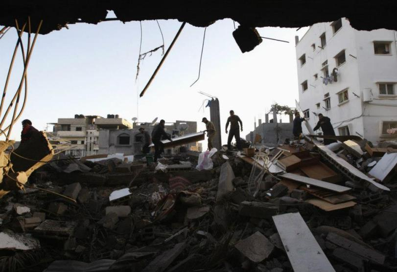 Gaza City 18 novembre, 2012. REUTERS/Ahmed Zakot  (International communities against Israel - FACEBOOK)