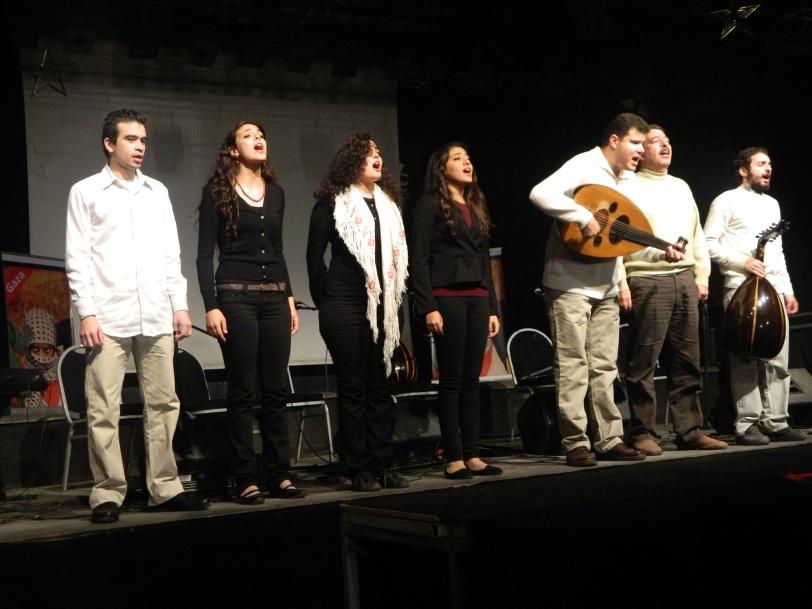 L'hymne égyptien en fin de concert - Photo prise par Siham