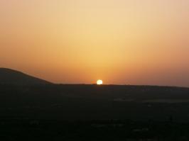 Le coucher du soleil sur Sefrou, près de Fez