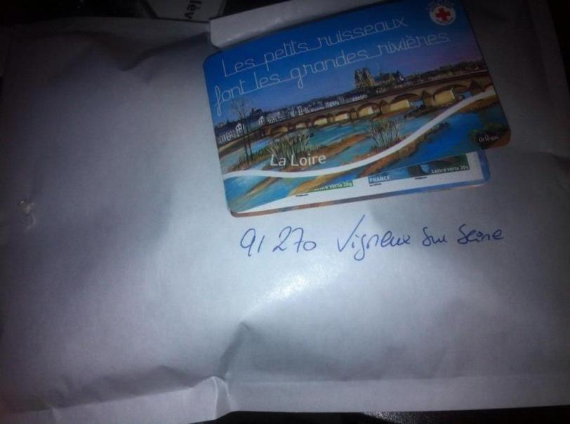 Un cadeau reçu par @AGhuraba à Vigneux sur Seine