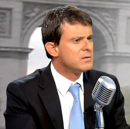 Manuel Valls au micro de Jean-Jacques Bourdin