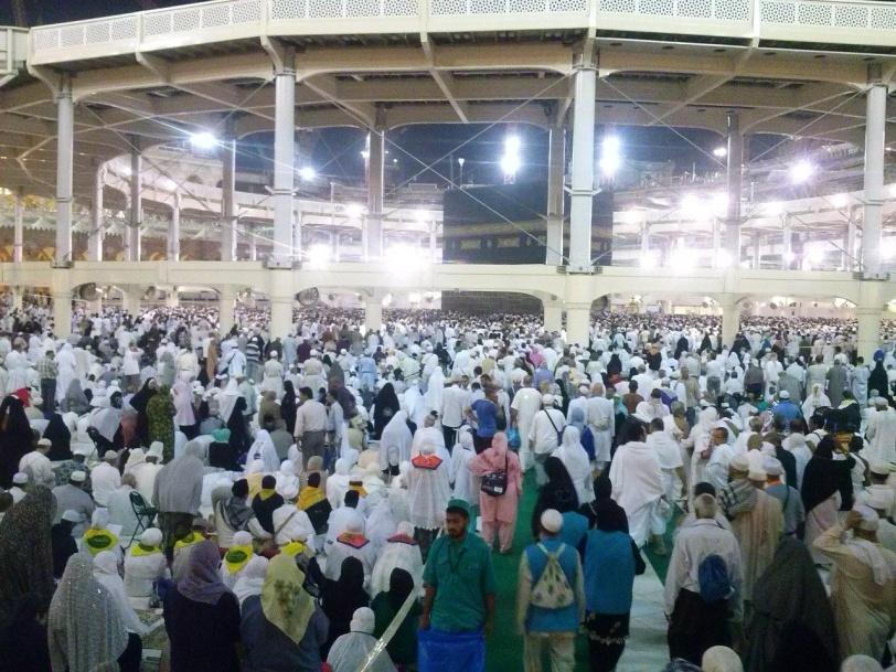 Photo prise par Ozcan à l'intérieur du Masjid al-Haram à la Mecque (octobre 2013)