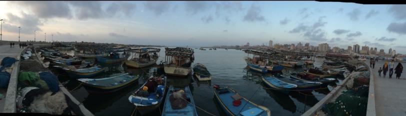 Depuis le Port de Gaza