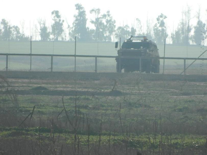 A la frontière avec Israël, vue depuis Gaza
