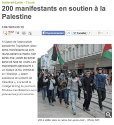 www.lanouvellerepublique.fr/Indre-et-Loire/Actualite/Faits-divers-justice/n/Contenus/Articles/2014/07/13/200-manifestants-en-soutien-a-la-Palestine-1983556
