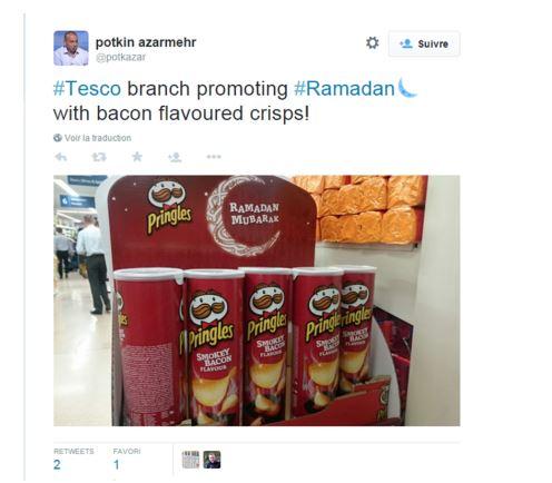 Twitter : Bon Ramadan avec des chips au bacon