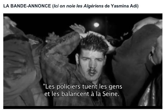 Ici on noie les Algériens - film de Yasmina Adi