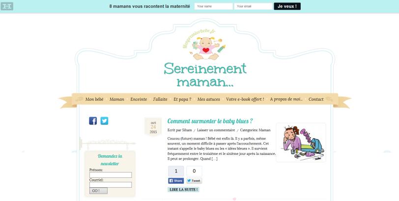 Voici le site monpremierbebe.fr
