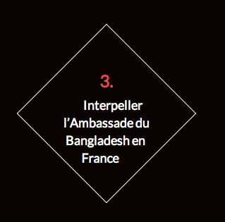 Interpeller l'ambassadeur du Bangladesh en France