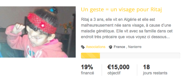 10:03:2016 - Solidarité, Un geste pour un reconstruire le visage de Rita