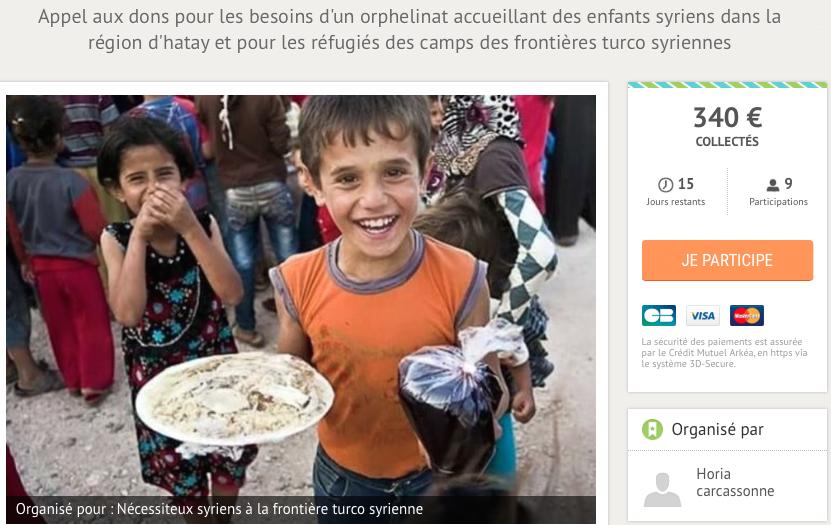 17/10/2016 - Horia nous appelle à aider orphelins, réfugiés à la frontière turco-syrienne