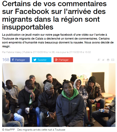 31/10/2016 - Les journalistes de France 3 indignés des commentaires haineux contre les réfugiés