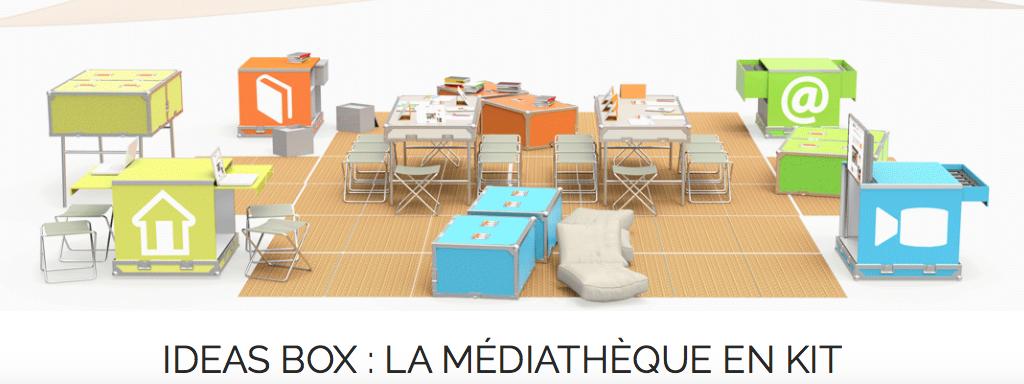 26/12/2016 - Terminons 2016 avec la Ideas Box : la médiathèque en kit dans les camps de réfugiés