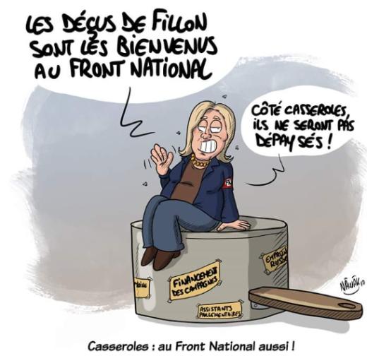 Edito du 13/02/2017 - Arrêt sur caricature - Fillon, le Pen veulent concurrencer Tefal