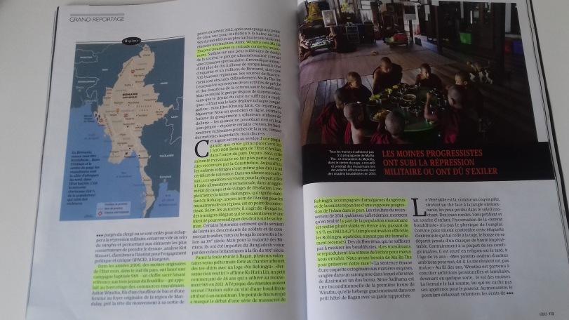03/04/2017 - Le magazine GEO parle enfin en détail des Rohingyas