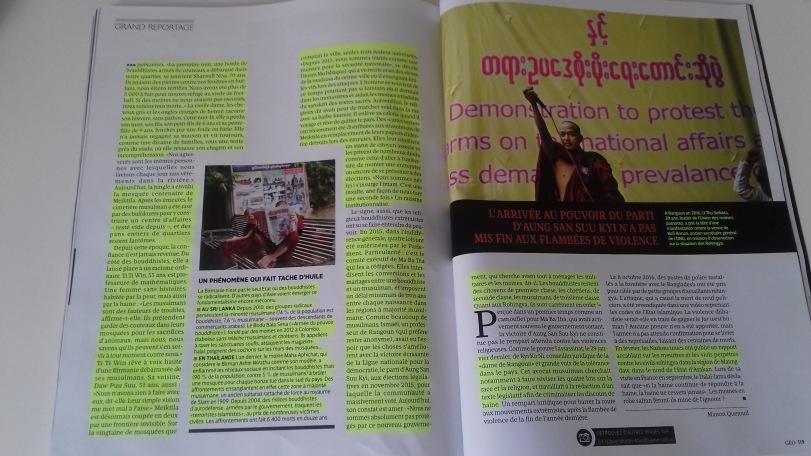 03/04/2017 - Le magazine GEO parle enfin en détail des Rohingya