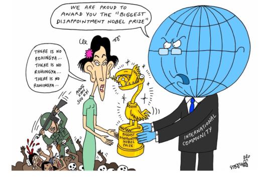 18/09/2017 - Arrêt sur image : Aung San Suu Kyi ignorant toujours le massacre des Rohingyas
